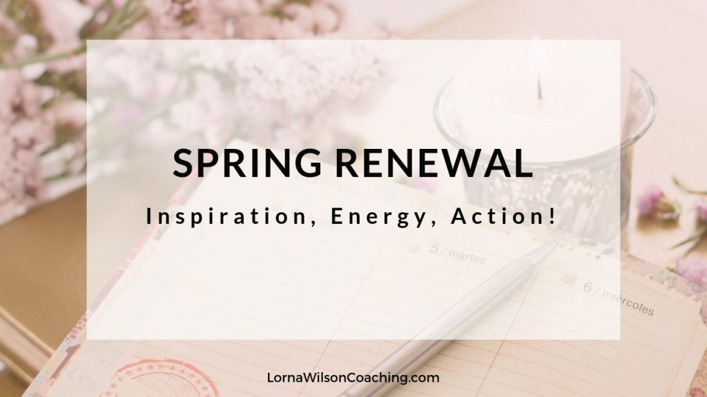 Spring Renewal blog post flowers and journal